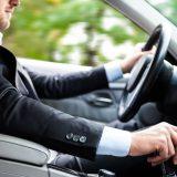 16129541 - man driving his car